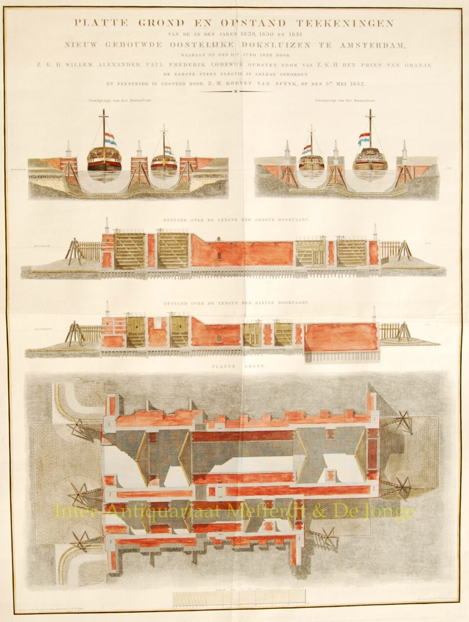 Oosterdoksluizen Amsterdam - 1832