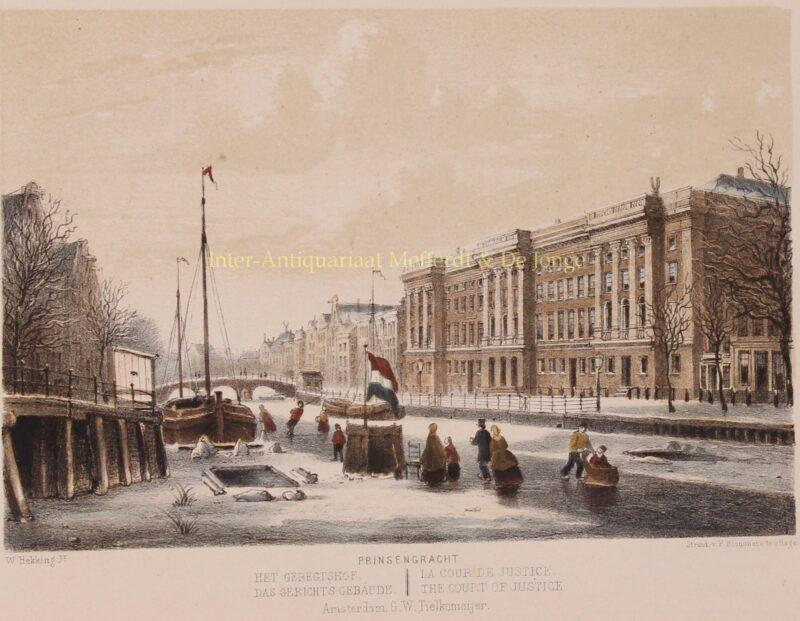 Amsterdam, Prinsengracht – P. Blommers naar Willem Hekking jr., 1869