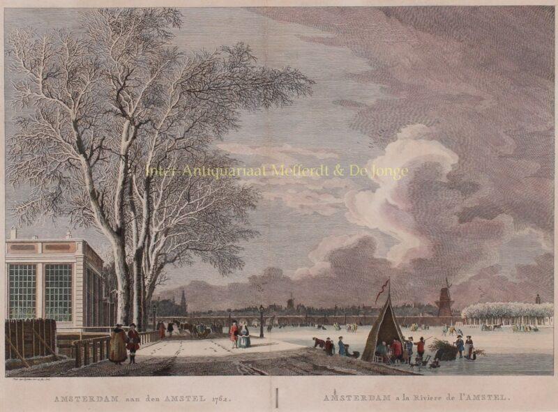 Amsterdam, Amstel, ijsgezicht – Pierre Fouquet naar Paulus van Liender, 1762