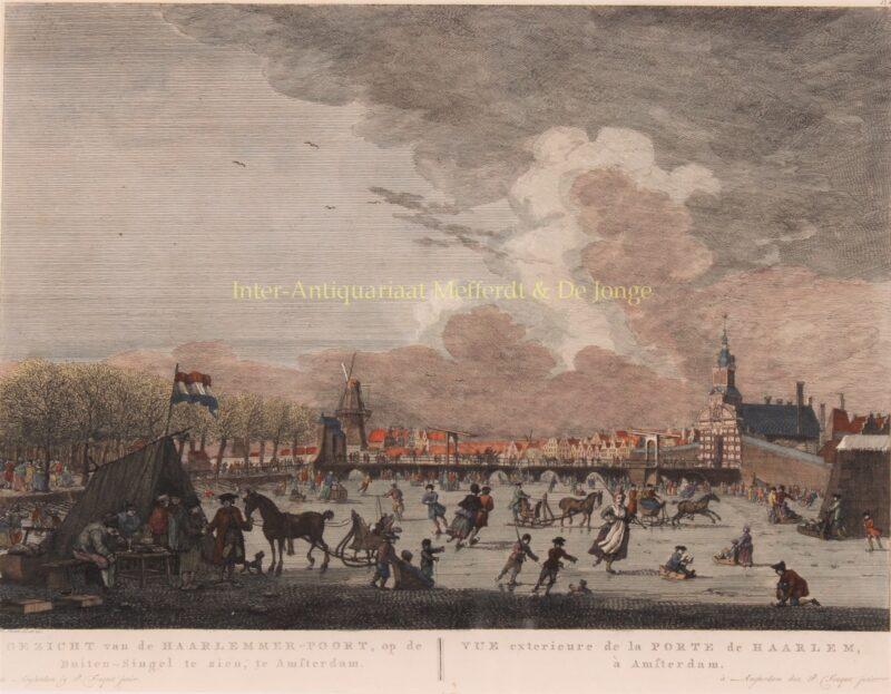 Amsterdam, Haarlemmer poort – Pierre Fouquet naar Herman Schouten, 1783