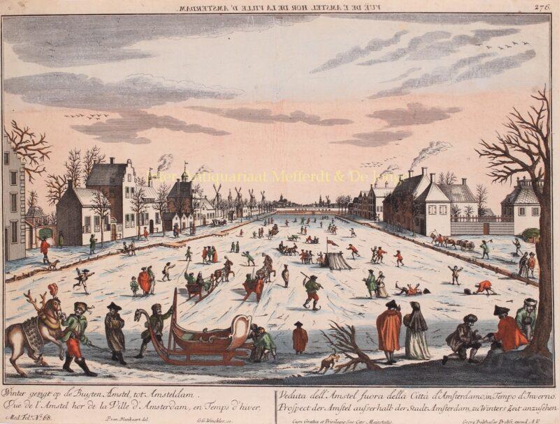 Bevroren Amstel – Georg Gottfried Winckler naar Peter Blanckert, ca. 1760