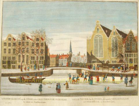 Amsterdam, ijsgezicht 18de eeuw – Singel