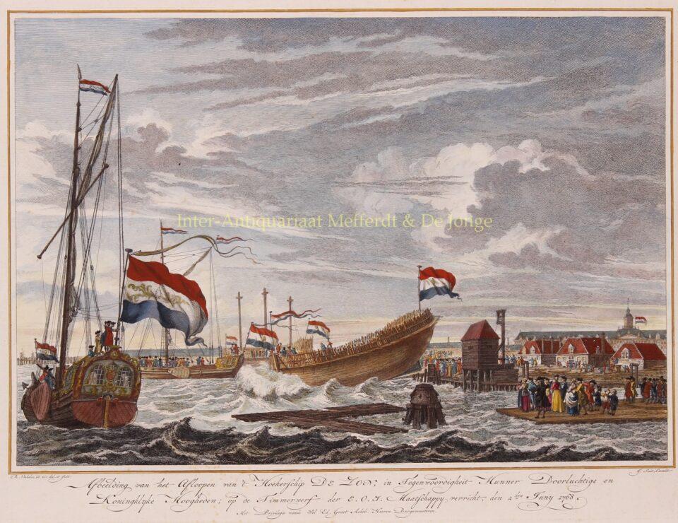 tewaterlating VOC werf Amsterdam 1768