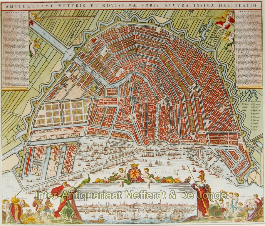 Plattegrond van Amsterdam - Covens en Mortier