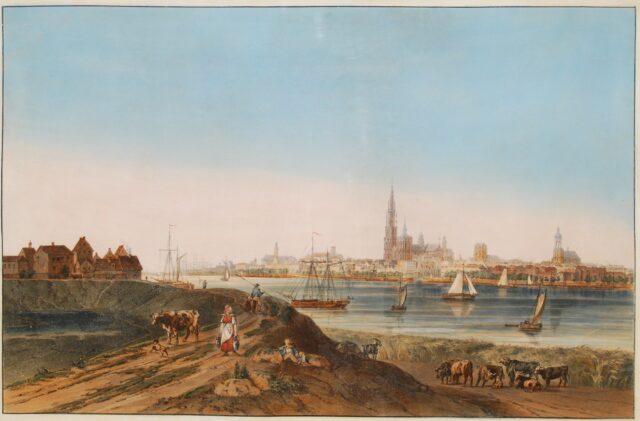 Gezicht op Antwerpen - ca. 1820