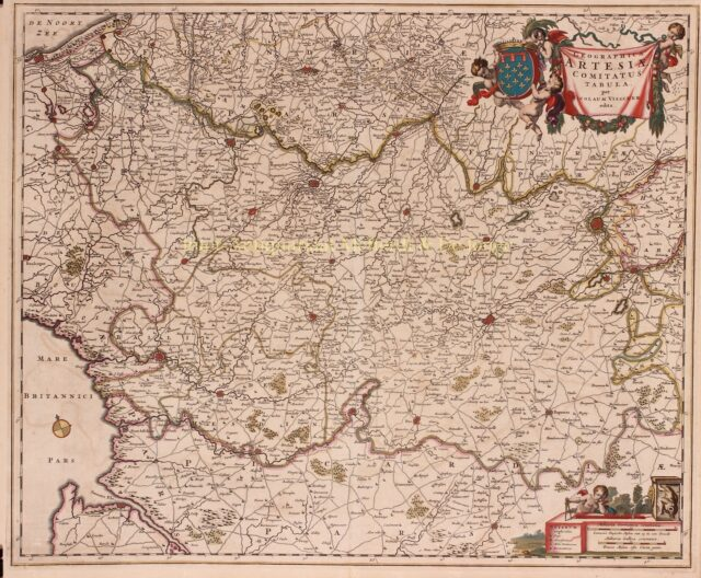 old map of Artois