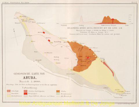 Aruba antieke kaart