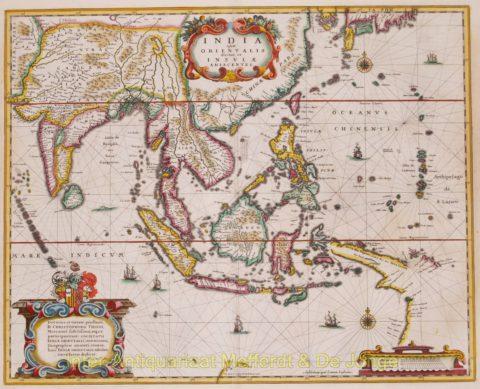 Asia map – Hondius/Janssonius
