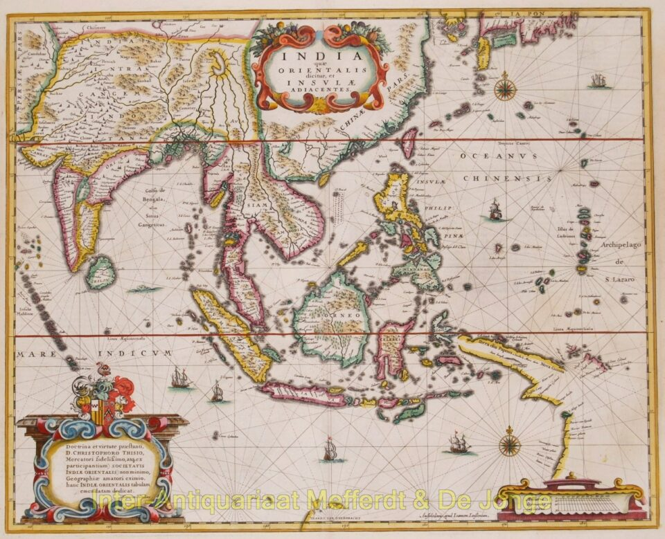 Asia map - Hondius/Janssonius
