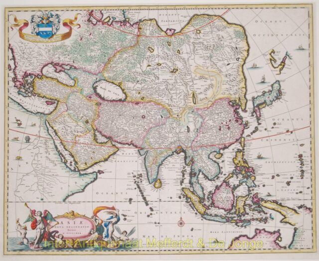 Asia antique map - Visscher