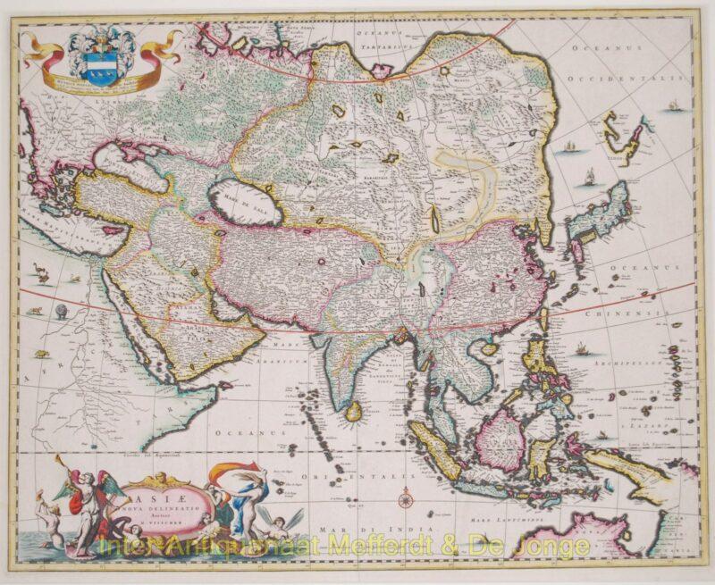 Asia antique map – Visscher