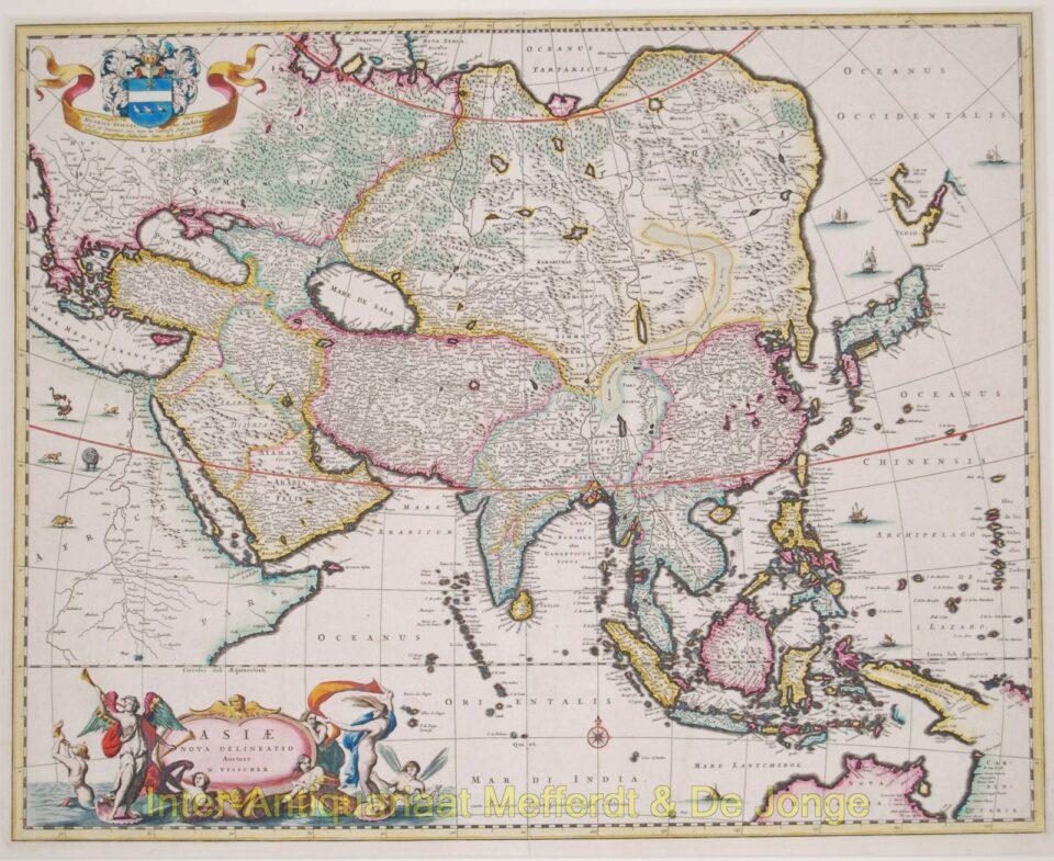 Asia antique map - Visscher