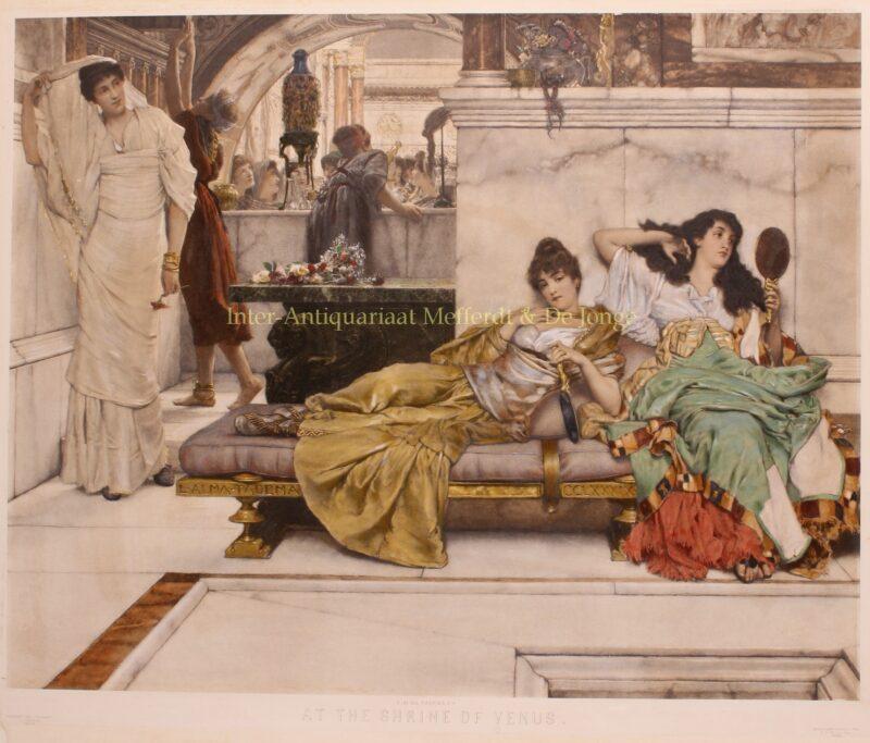 At the Shrine of Venus – Lawrence Alma-Tadema, 1888
