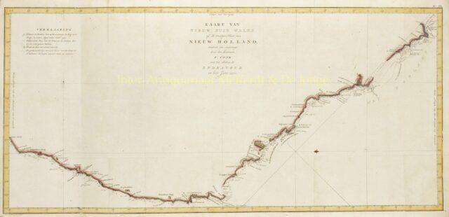 oude kaart van Australië