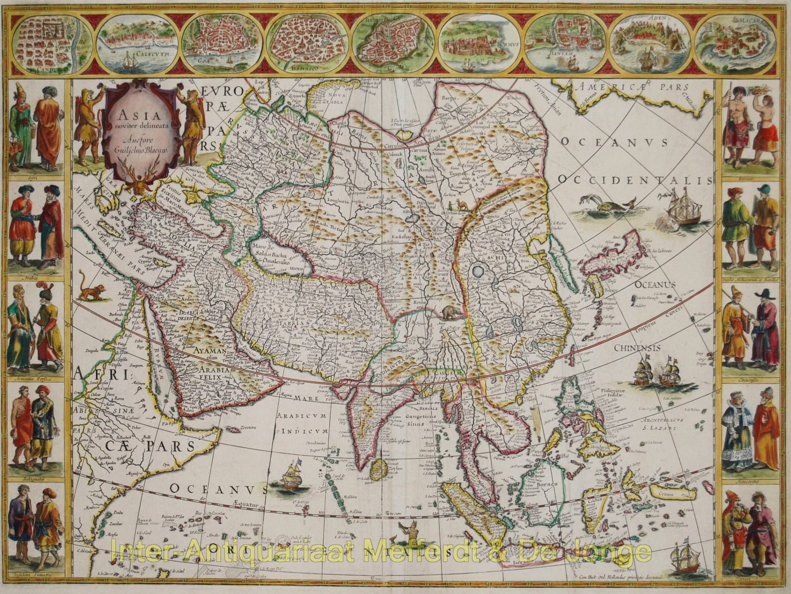 Asia map - Willem Blaeu