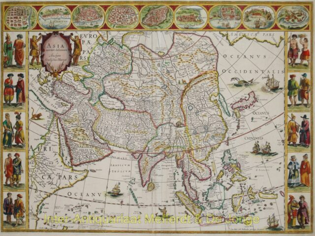 Asia antique map - Willem Blaeu