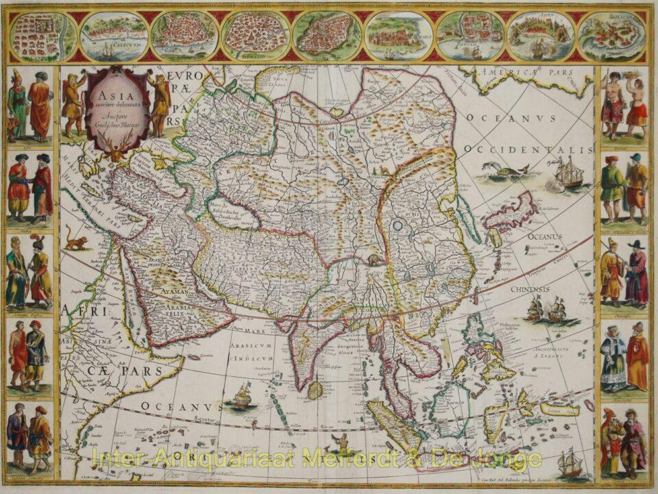 Asia antique map - Willem Blaeu