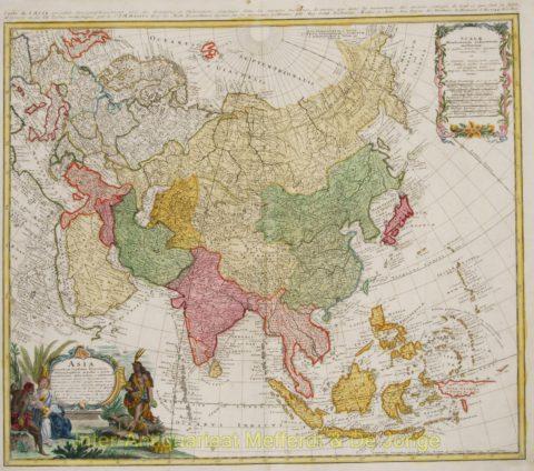 Asia map – Homann