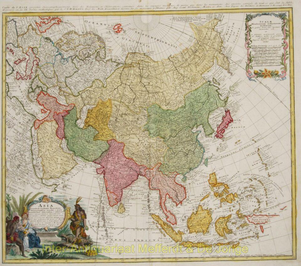 Asia map - Homann