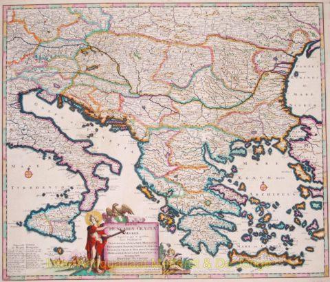 Balkan antique map – Danckerts, 1684