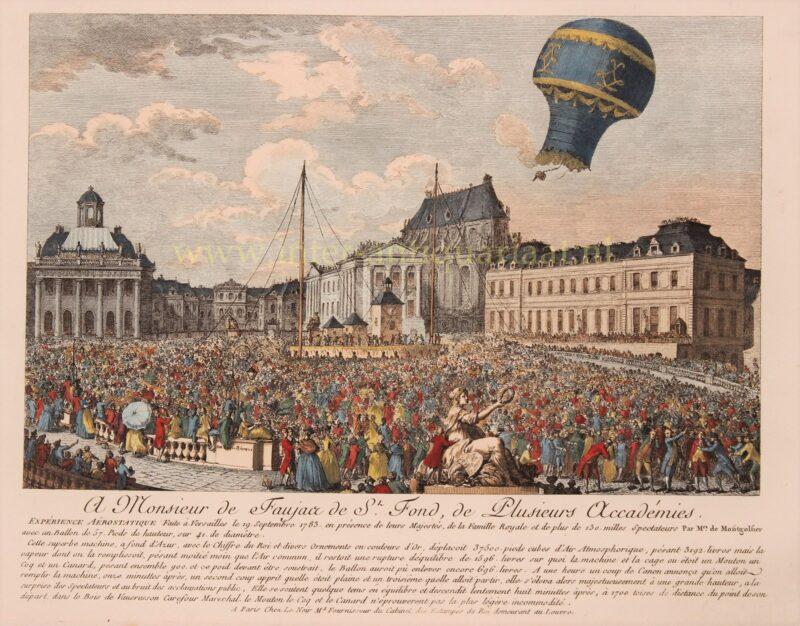 Ballonvaart, Gebroeders Montgolfier – Le Noir, 1783
