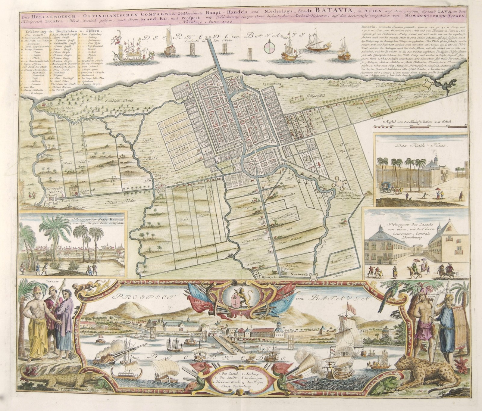 Batavia antique map - Homann
