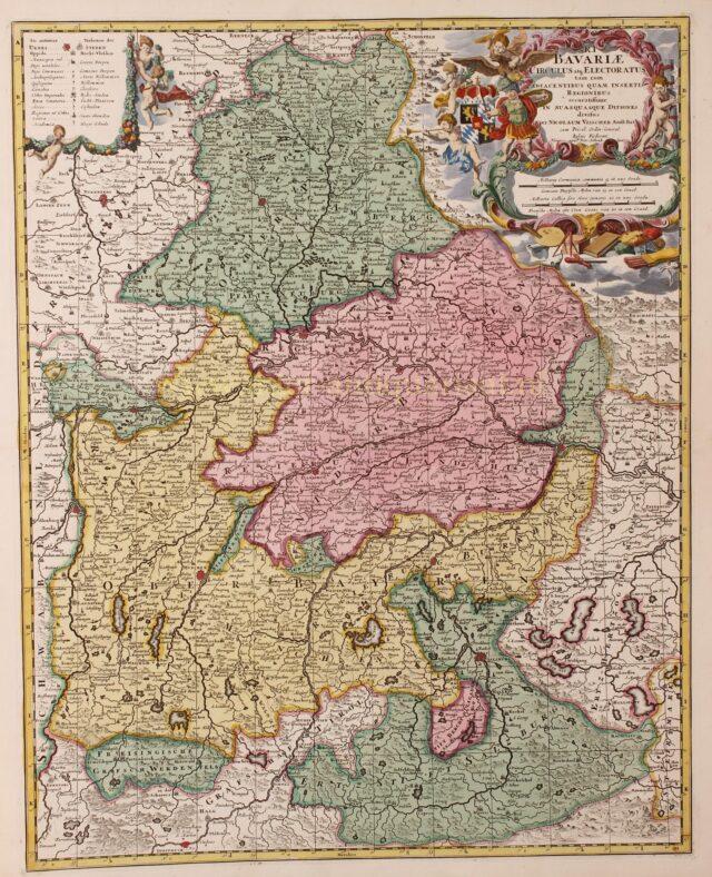 18e-eeuwse kaart van Beieren