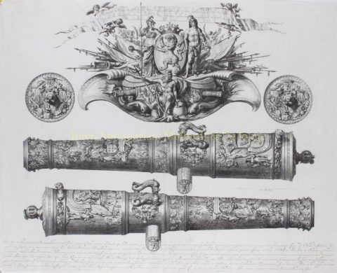 De Benningh-kanonnen – Abraham Blotelingh naar Adriaen van der Velde, 1671
