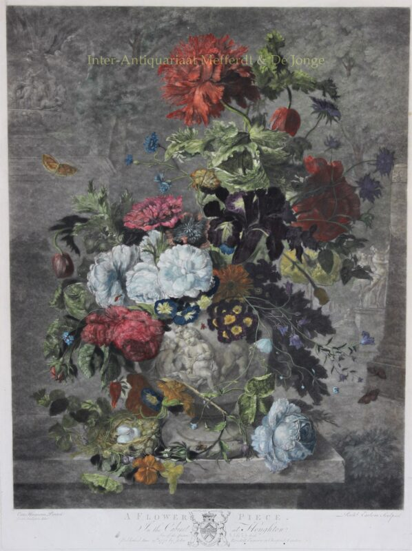 Bloemstilleven – naar Jan van Huysum, 1778