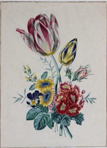 Bloemstilleven met tulpen – Van Heurn, eerste helft 19e-eeuw