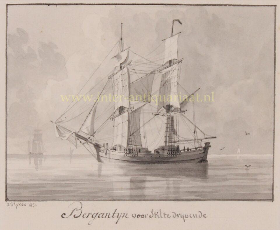19e-eeuwse brigantijn