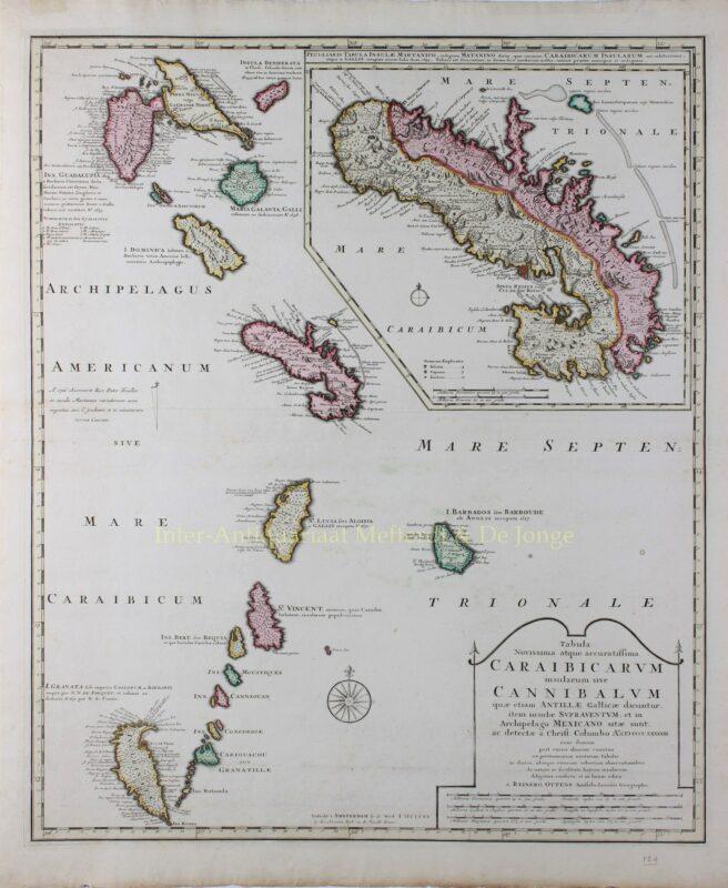 Caraïben, Bovenwindse Eilanden – Wed. Joachim Ottens, 1719-1723
