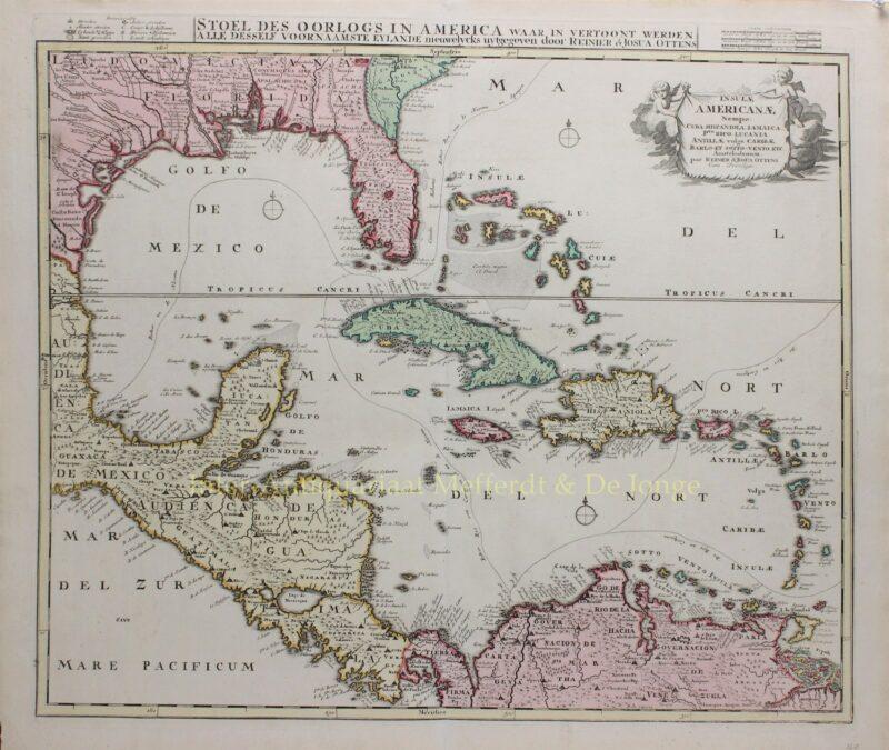 Golf van Mexico, Caraïbisch gebied – Ottens, ca. 1720