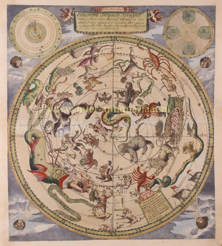 Hemelkaart – Andreas Luchtenburg + Cornelis Danckerts, ca. 1695
