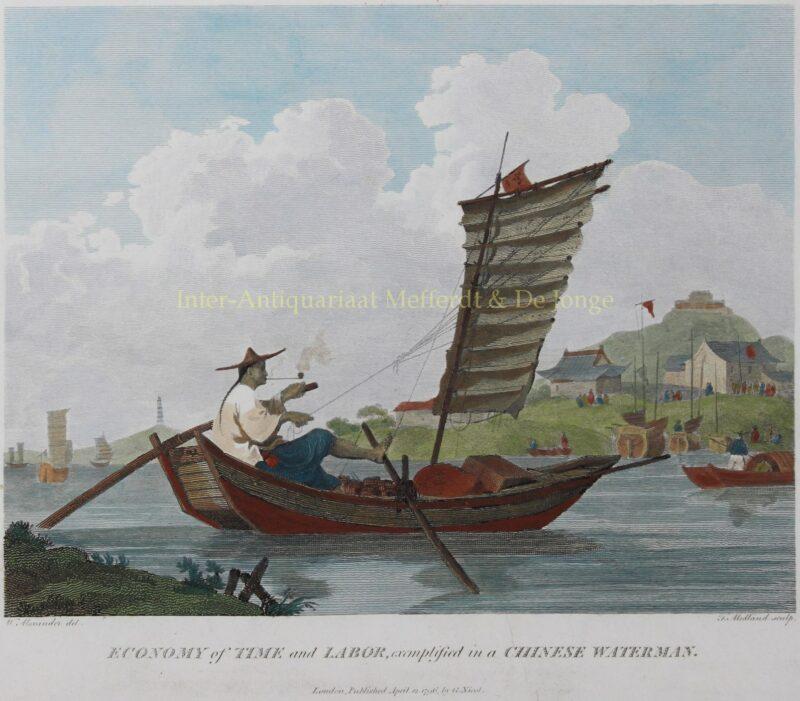 Chinese schipper – naar William Alexander, 1796