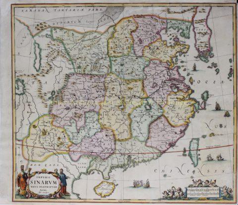 China – Johannes Janssonius, 1657