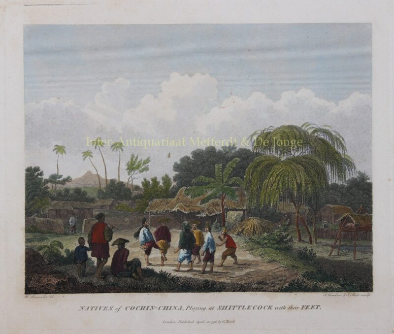 Cochinchina (Vietnam), đá cầu – William Alexander, 1796