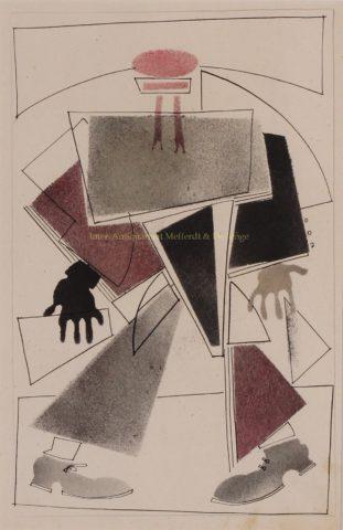 Constructivistische ontwerptekening – Vladimir Lebedev, 1924-1933