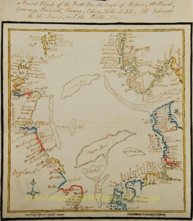 North Sea - manuscript map made in 1782