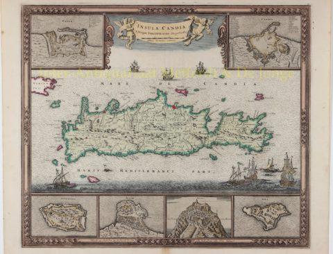 Map of Crete – Frederick de Wit, c. 1680