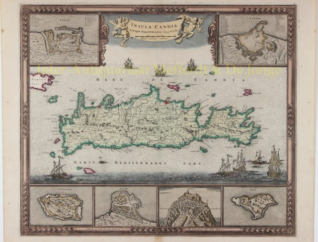 Map of Crete - Frederick de Wit