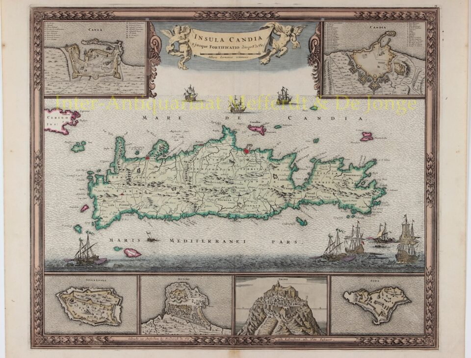 Map of Crete - Frederick de Wit