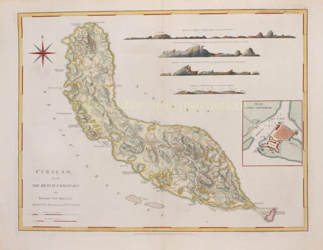 18e-eeuwse kaart van Curaçao