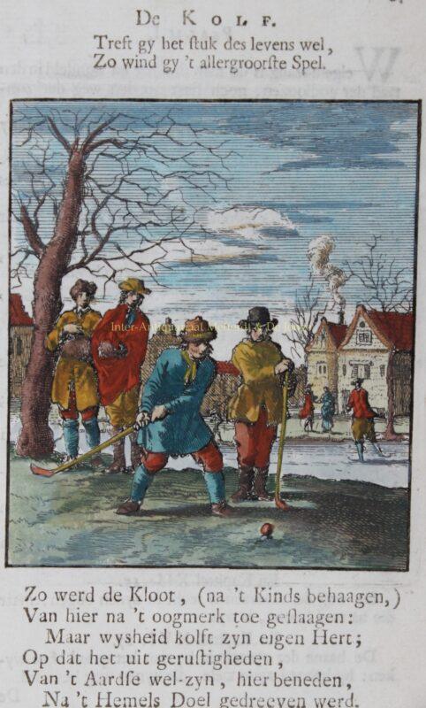 Kolfspelers – Jan Luyken, 1712