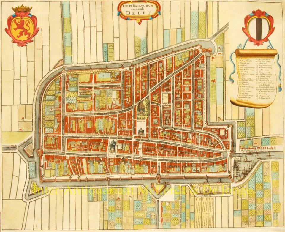 Plattegrond Delft - Gregorio Leti