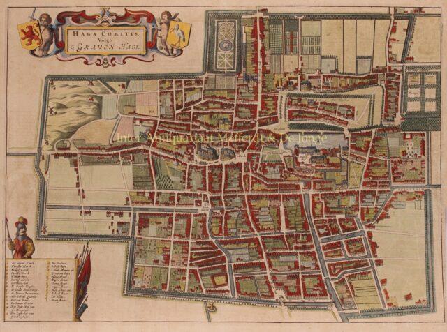 17e-eeuwse kaart van Den Haag