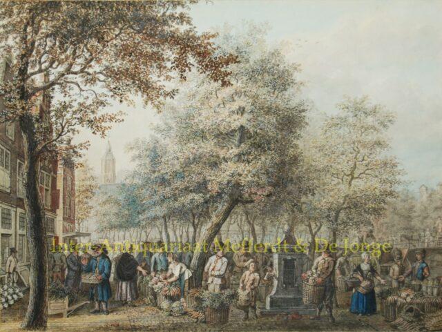 Haagse groentemarkt - Maria Margaretha de la Fargue