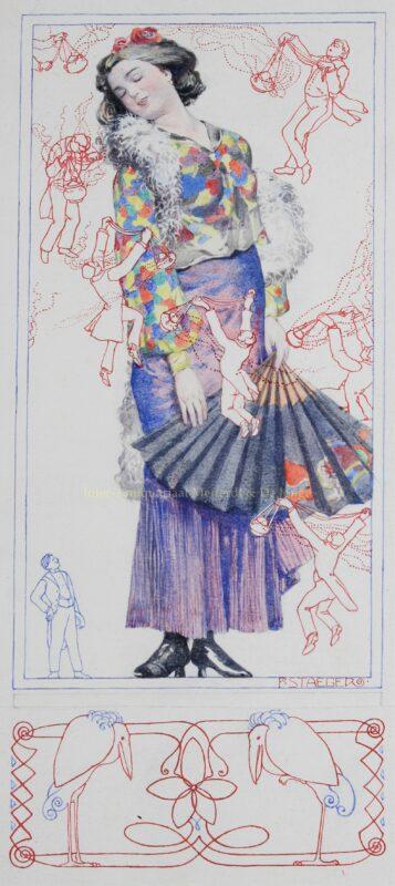 """""""Die Verwöhnte"""" – Ferdinand Staeger (Meggendorfer Blätter), 1908"""