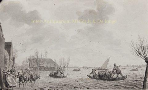 Dijkbreuk bij Warder (Noord-Holland) – Noach van der Meer jr., 1775