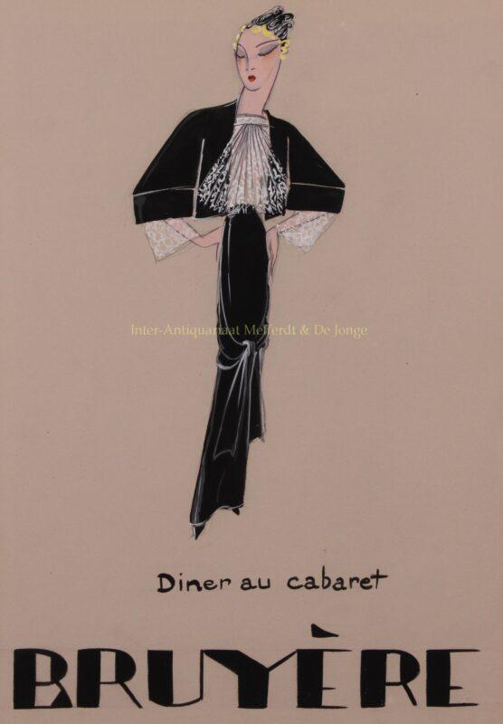 Bruyère – mode ontwerp tekening, jaren 1930